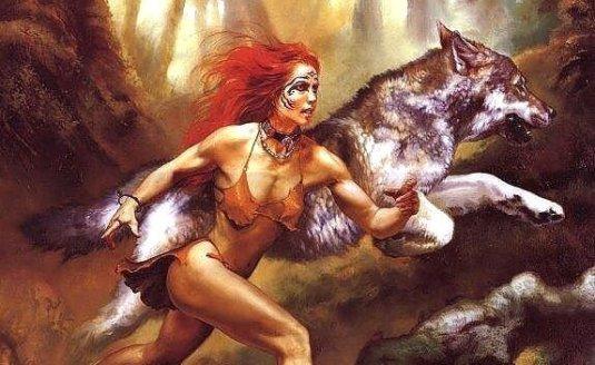 kvinne-med-ulv